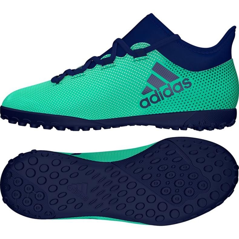 Adidas X Tango 17,3 Tf Jr CP9027 Fußballschuhe türkis mehrfarbig
