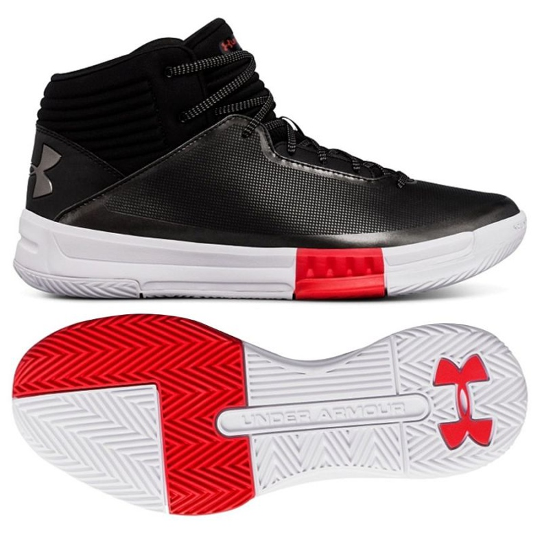 Basketballschuhe Under Armour Lockdown 2 schwarz