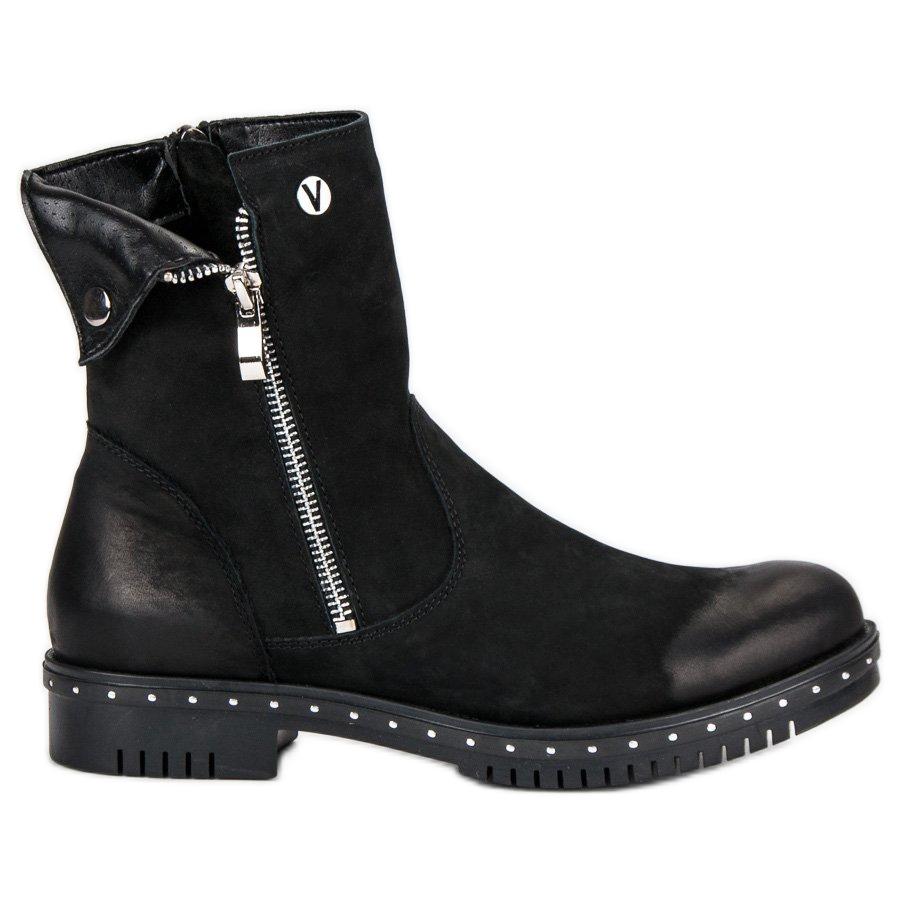 diversifiziert in der Verpackung populäres Design klassisch Schwarze Stiefel mit Leder VINCEZA