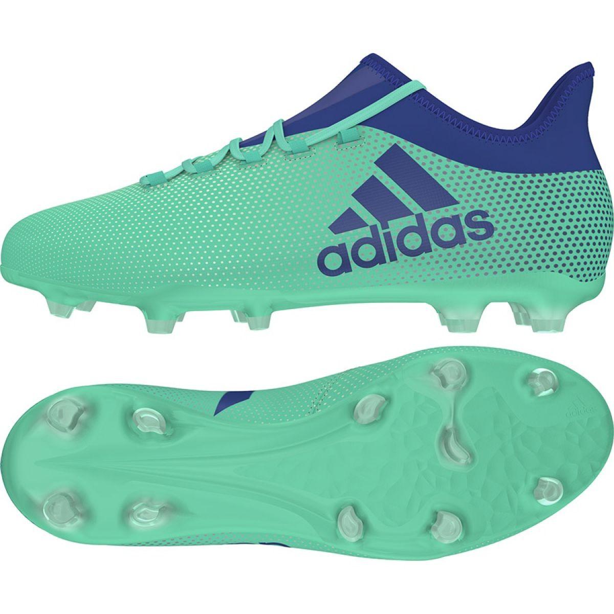 Fussballschuhe Adidas X 17 2 Fg M Cp9189 Grun Blau Grun