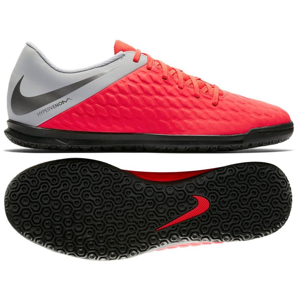 Hallenschuhe Nike Hypervenom Phantomx 3 Club Ic Jr Aj3789 600 Rot Rot