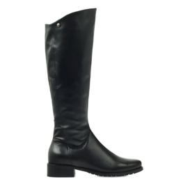 Lange schwarze Stiefel Edeo 2206
