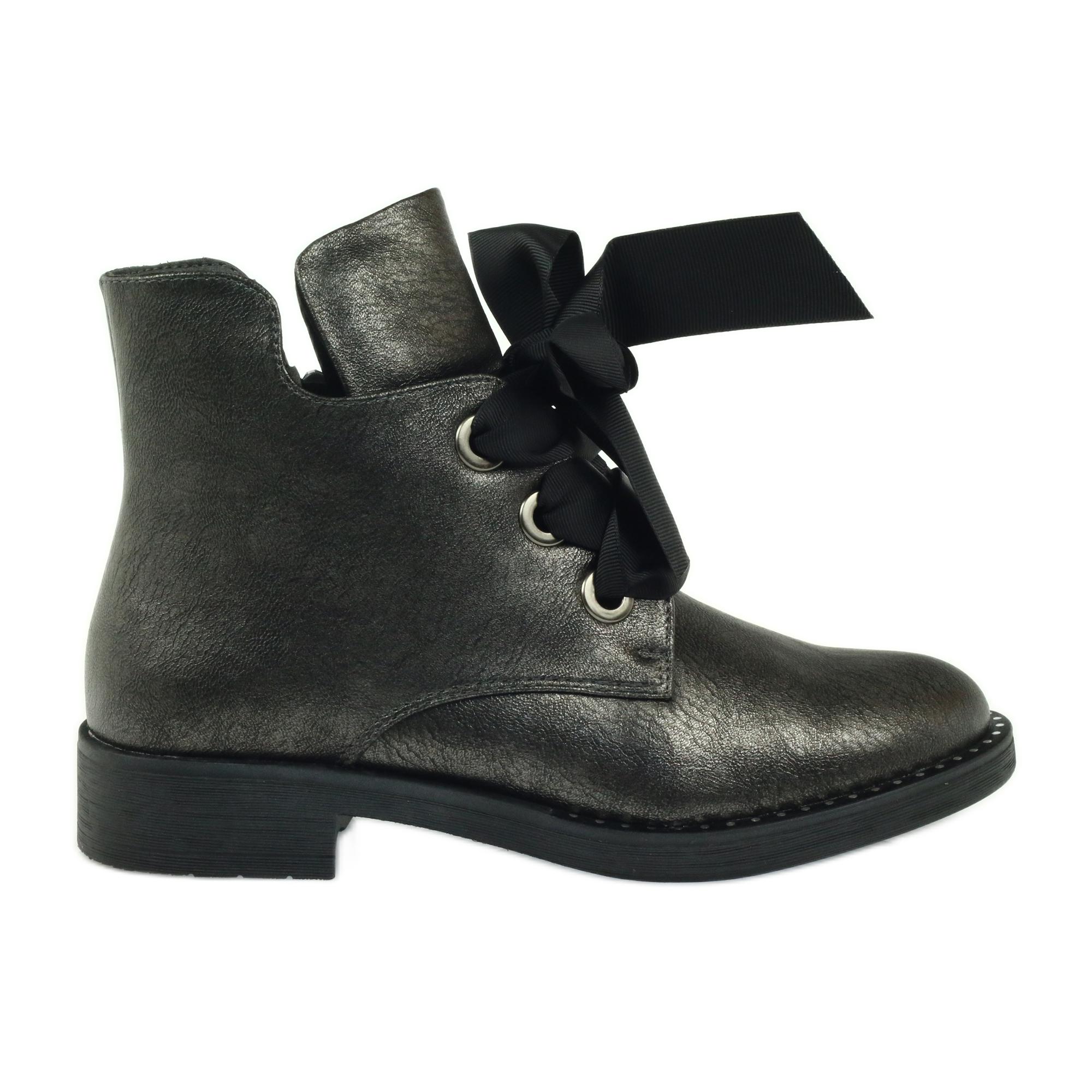 echt kaufen Rabatt-Sammlung neues Design Grau Stiefel Bogen Sergio Leone 305