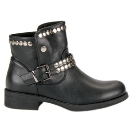 L. Lux. Shoes schwarz Rock Black Booties