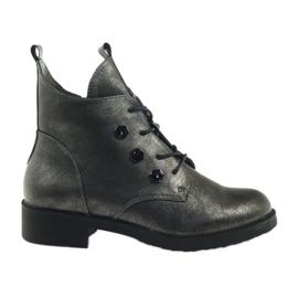 Grau Stiefel mit Nieten Sergio Leone 308