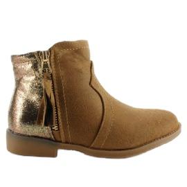 Braun Stiefel Junk Stiefel K1647301 Kamel