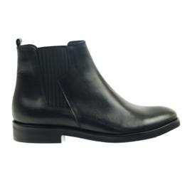 Edeo Stiefel schwarz Slip-in 3244