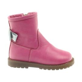 Stiefel mit rosa Schleife Bartuś 317