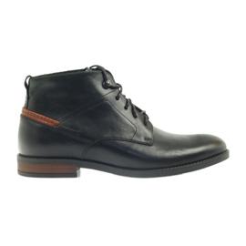 Stiefel schwarz verknotet Pilpol 6030
