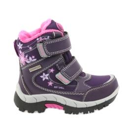 American Club lila Amerikanische Stiefel Winterstiefel mit Membran 3121