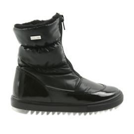Schwarz Stiefel mit einer Membran Bartek 47405