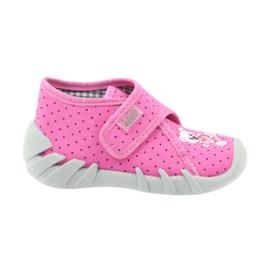 Befado Kinderschuhe 112P185 Hausschuhe pink