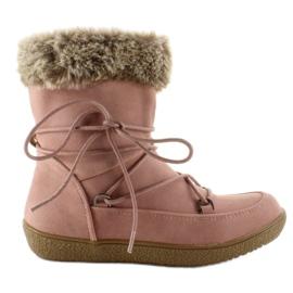 Pink Halbstiefel für Kinder mit Fell K1647201 Rose