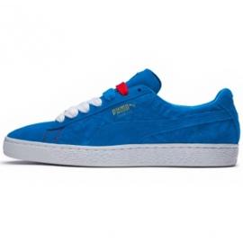 Blau Schuhe Puma Wildleder Classic Paris M 366298 01