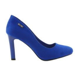 Sergio Leone blau Wildlederpumpen 1457