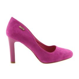 Sergio Leone pink Wildlederpumpen 1457