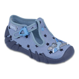 Blau Befado farbige Kinderschuhe 110P345