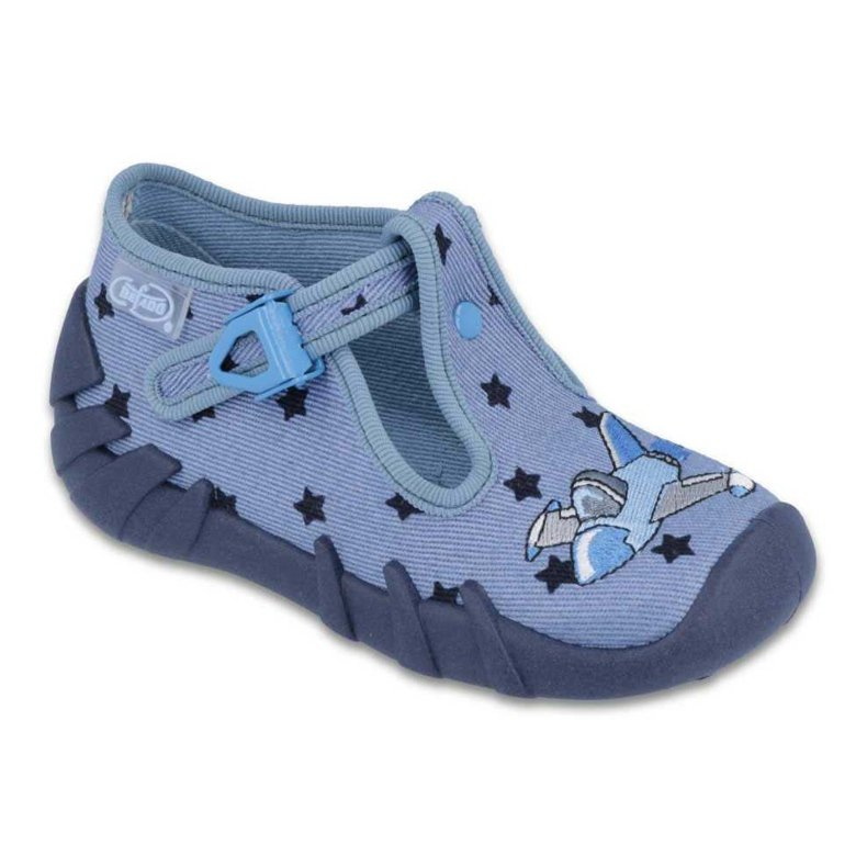 Befado farbige Kinderschuhe 110P345 blau