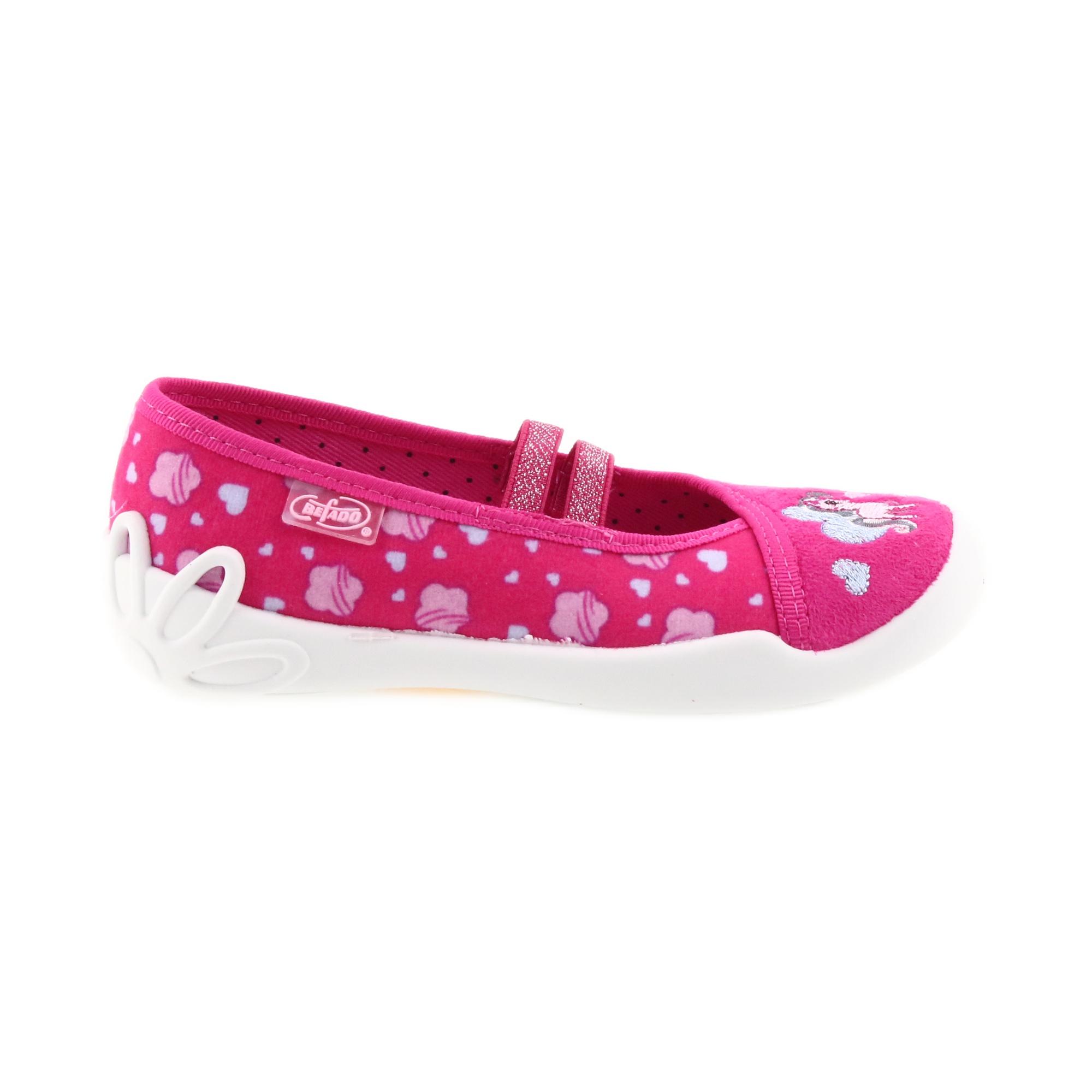 824bca338a Pink Befado Kinderschuhe Ballerina Hausschuhe 116X237 - ButyModne.pl