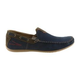 Riko Mokassin Schuhe Herren blau 781