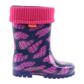 Demar Gummistiefel Kinder warme Sockenherzen