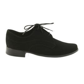 Miko Schuhe Kinder Wildleder Kommunion Schuhe schwarz