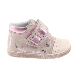 Ren But Velcro-Booties Babyschuhe Ren Aber 1535 rosa Flamingos pink