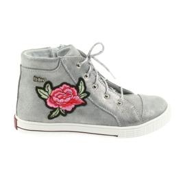Grau Schuhe Schuh Mädchen Silber Ren But 4279