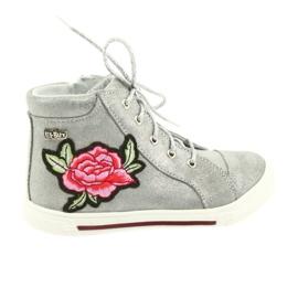 Schuhe Schuh Mädchen Silber Ren But 3237 grau