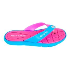 Hausschuhe Aqua-Speed Bali pink-blau 03 479