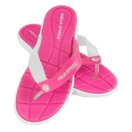 Hausschuhe Aqua-Speed Bali pink und weiß 05 479