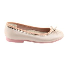 Ballerinas mit einer Schleife rosa Perle American Club GC14 / 19
