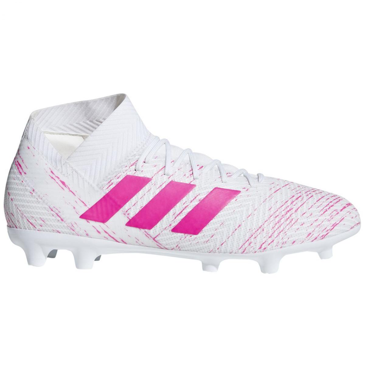 Fussballschuhe Adidas Nemeziz 18 3 F M Bb9436 Weiss Weiss