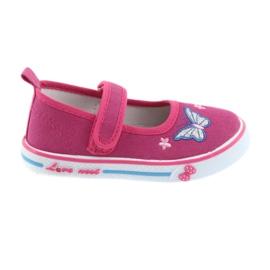 Rosa Ballerinas-Sneakers aus Leder von Atletico
