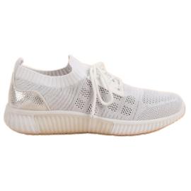 Primavera Weiße Slip-Schuhe