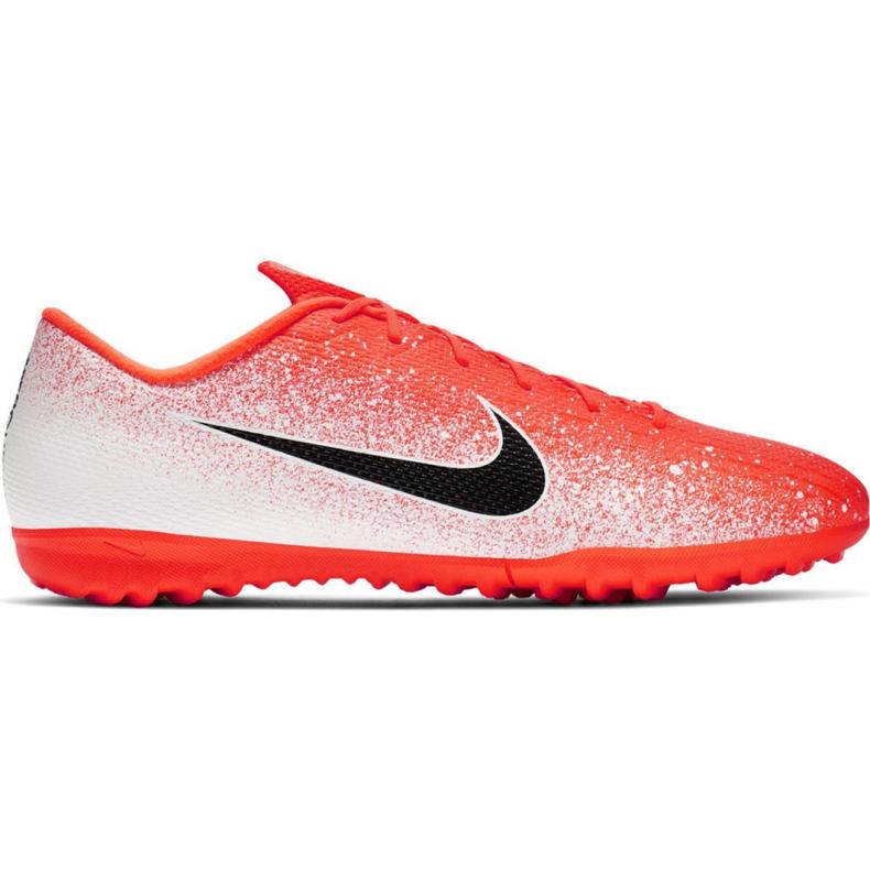 Nike Mercurial Vapor X 12 Academy Tf M AH7384-801 Fußballschuhe weiß weiß, orange