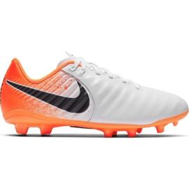 Fußballschuhe Nike Tiempo Legend 7 Academy Mg Jr AO2291-118 weiß weiß, orange