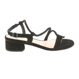 Schwarze Sandalen High Heels Edeo 3386