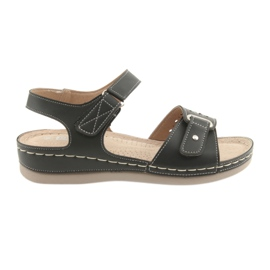 Damen Sandalen Komfort DK 25131 schwarz