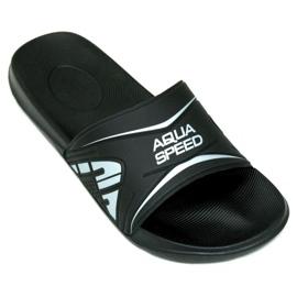 Aqua-Speed Hausschuhe Dakota M col.7 schwarz