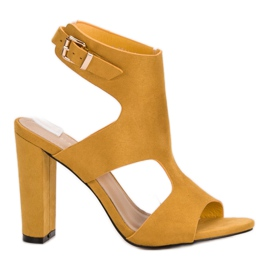 Ideal Shoes gelb Sexy High Heels