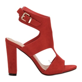 Ideal Shoes rot Sexy High Heels