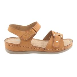 Braun Sandalen für Frauen Komfort DK 25131 Kamel