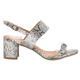 Ideal Shoes grau Modische Damen Sandalen