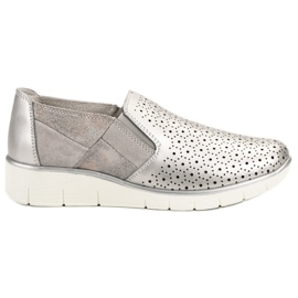 Filippo grau Silberne Slip-On-Schuhe