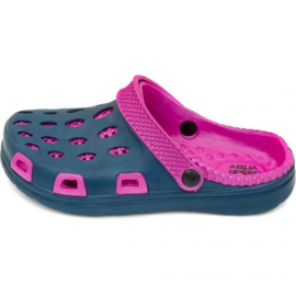 Aqua-Speed-Klappen Silvi Kol 49 Pink Marineblau