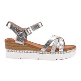 Seastar grau Modische Sandalen mit Zirkonen