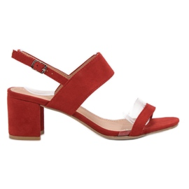 Ideal Shoes rot Modische Damen Sandalen