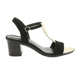 Sandalen für Frauen Anabelle 1447 schwarz / gold