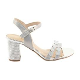 Silberne Sandalen für Damen Gamis 3658